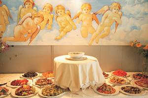 Il buffet dell'hotel